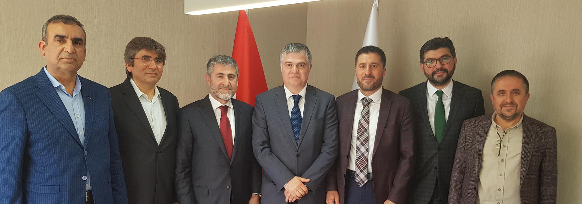 T.C. Hazine ve Maliye Bakan Yardımcısı Dr. Nureddin Nebati'yi ziyaret ettik